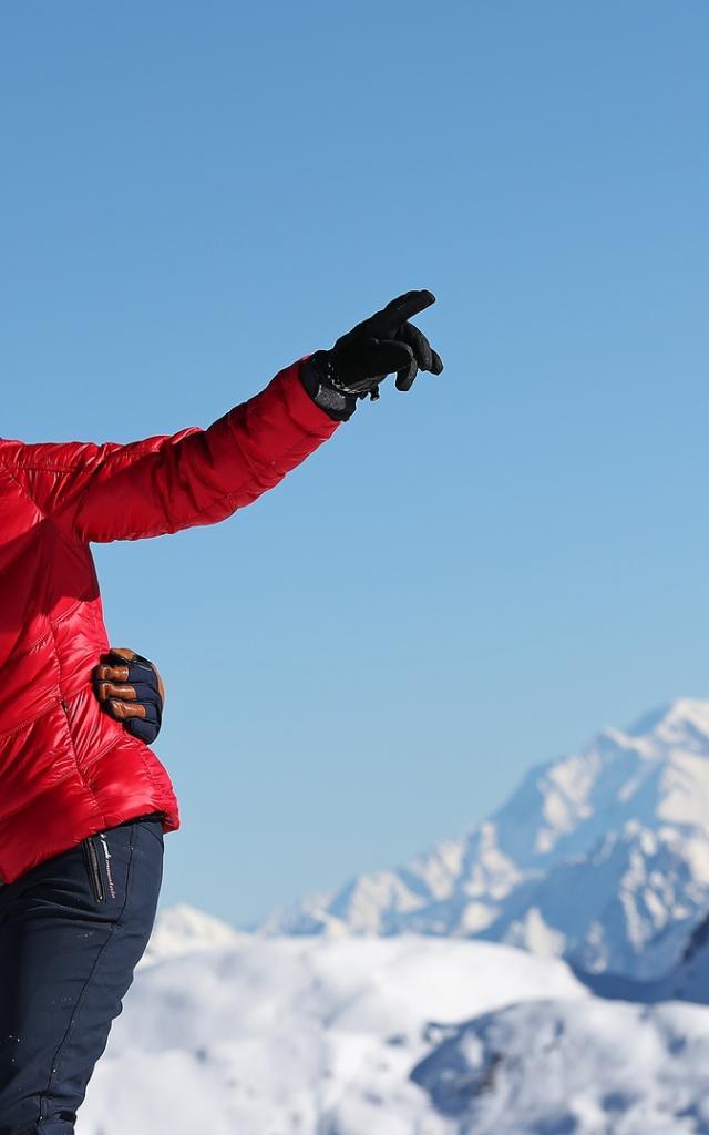 Le Collet - Vue sur le Mont Blanc depuis le sommet de Claran