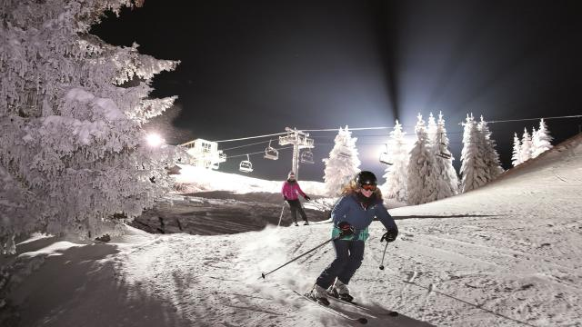 Ski nocturne Le Collet